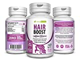 Best Hair Pills - Natural Hair Boost Growth Vitamins - Healthier, Thicker Review