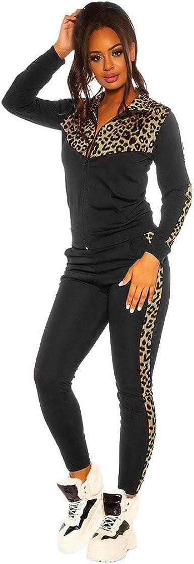 Women High Waist Slim Fit Pants Ladies Leopard Print Hollow Out Leggings Trouser