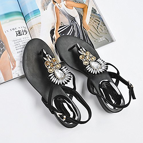 Toes Sandals Sandals KPHY New Thirty Style Comfortable And Wearable Flat Bottom Hasp nine Round Rq1t1XAx