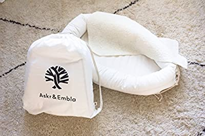 Askr & Embla Sleepod Original Baby Sleeper and Lounger Pack with Sleepod, Puddle Pad and Bag