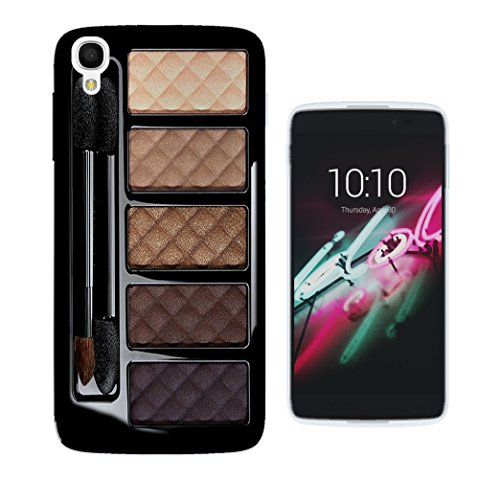 568 - Girly Fashion Make-Up Palette Print Design ALCATEL ONE TOUCH IDOL 3 (5.5'') Fashion Trend CASE Gel Rubber Silicone All Edges Protection Case Cover (Rose 568)
