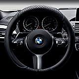 Car Steering Wheel Cover Automotive Interior Accessories-Microfiber Leather Anti Slip Wrap Universal Odorless 15 inch