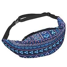 XMCOWAYOU 3D Printing Fanny Pack Travel Sport Waist Bag for Teenage Girls