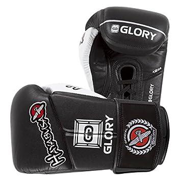 Hayabusa GLORIA 12 oz v-lace guantes – negro guantes de boxeo Spar guantes MMA
