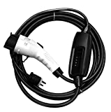 evCHARGEsolutions.com Electric Vehicle Charger Portable EVSE - USA Level 1 J1772 110V 25' Residential Station for EV Charging