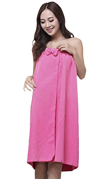 horcute lazo ajustable Velcro Spa toalla de baño Wrap para mujer - Rosado -: Amazon.es: Ropa y accesorios