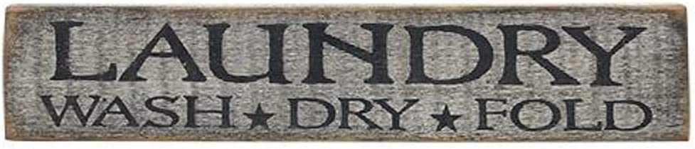 """Distressed Country Rustic Sign Black, Laundry - Great Accent Piece, Can Be Hung Or Sit on Counter 18"""" Long"""