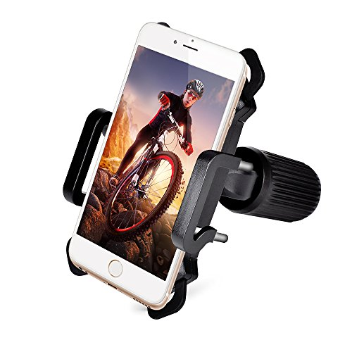 : Mighty Rock Bike phone mount Bicycle Holder, Universal Cell Phone Bicycle Handlebar and Motorcycle Holder Cradle with 360 Rotate for Most Smart Phones - Black