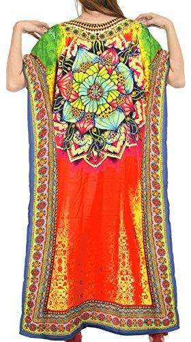 La Leela Bademode Badebekleidung likre maxi aloha Nachtzeug Kaftan Kleid maxi mutlicolor Frauen