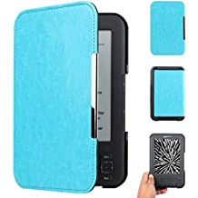 "WALNEW Amazon Kindle Keyboard (kindle 3/D00901) Case Cover -- Ultra Lightweight PU Leather Smartshell Cover for Amazon kindle Keyboard(3rd Generation)Tablet with 6"" Display and Keyboard (Light Blue)"