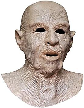 MASCARELLO Arrugado Viejo Mascara de látex con un Gran Cuello ...