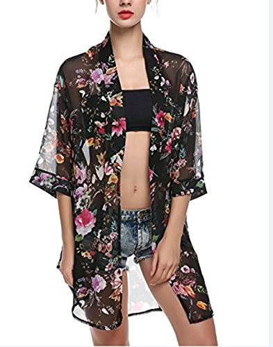 2b81a7871a Women s Summer Bathing Suit Cover Up Dress Plus Size Beachwear CoverUps  Kimono Cardigan Cardigan Coats Jackets with Sleeve Swimsuit Cover Up Top  Beach Pareo ...