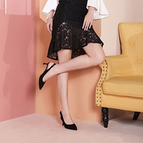 Pour 3 5 Femmes De 35 Mince Pointue Printemps Escarpins UK Chaussures Hauts Été EU 721 Ly Sandales Noir Talons DALL CN Cm Haut taille Talons 35 5 Et 5 Tête pqYR0Fnx