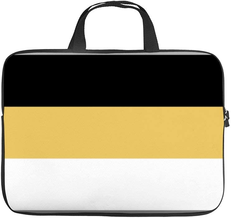 15 Inch Laptop Sleeve Color Block Mustard Yellow, Gray, Black, and White Case/Water-Resistant Notebook Computer Pocket Tablet Briefcase Carrying Bag/Pouch Skin Cover for Acer/Asus/Dell/Lenovo
