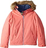 Roxy Little American Pie Girl Embossed Snow Jacket, Shell Pink_Indie Stripes, 8/S