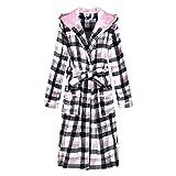 Richie House Women's Plaid Fleece Bathrobe Robe RHW2714-B-XL