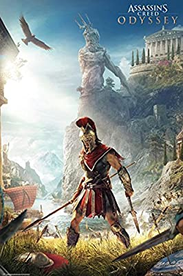 Assassin S Creed Odyssey Poster Key Art 61cm X 91 5cm Amazon Co Uk Kitchen Home