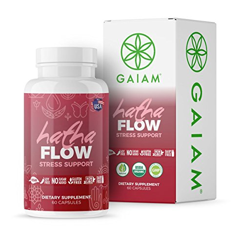 Flow Stress Support (Made in USA, USDA Organic Certified, Chamomike, Lemon Balm, Passion Flower, Valerian Root) - 60 Capsules ()