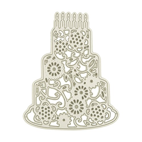 Cake Die Cut (Birthday Cake Design Cutting Dies for DIY Dcrapbooking Decor Card Making Craft Supplies)