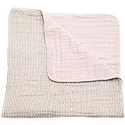 Little Unicorn Cotton Muslin Blanket Quilt - Grey Stripe