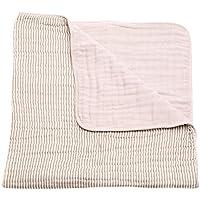 Little Unicorn Cotton Muslin Quilt Blanket - Grey Stripe