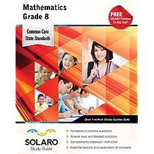 Common Core Mathematics Grade 8: Solaro Study Guide