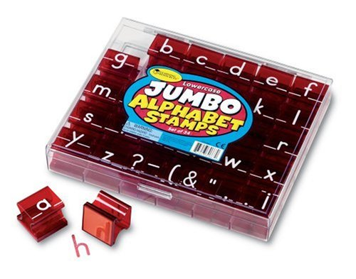 Learning Resources Jumbo Lowercase Alphabet Stamps LER0667