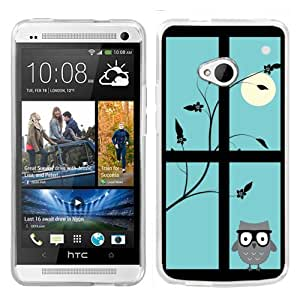 One Tough Shield ? Slim-Fit Hard Cover Case for HTC ONE - (Moon/Owl)