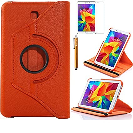 best sneakers 81714 4c66c Tab 4 7.0 Case, AiSMei Rotating Case For Samsung Galaxy Tab 4 7.0  SM-T230,SM-T231, SM-T230NU Tablet PC,7-Inch PU Leather Case [Bonus  Stylus+Screen ...