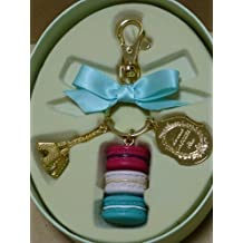 LADUREE Keychain Ring Eiffel Tower Macaron Charm M -Pistache(Green)