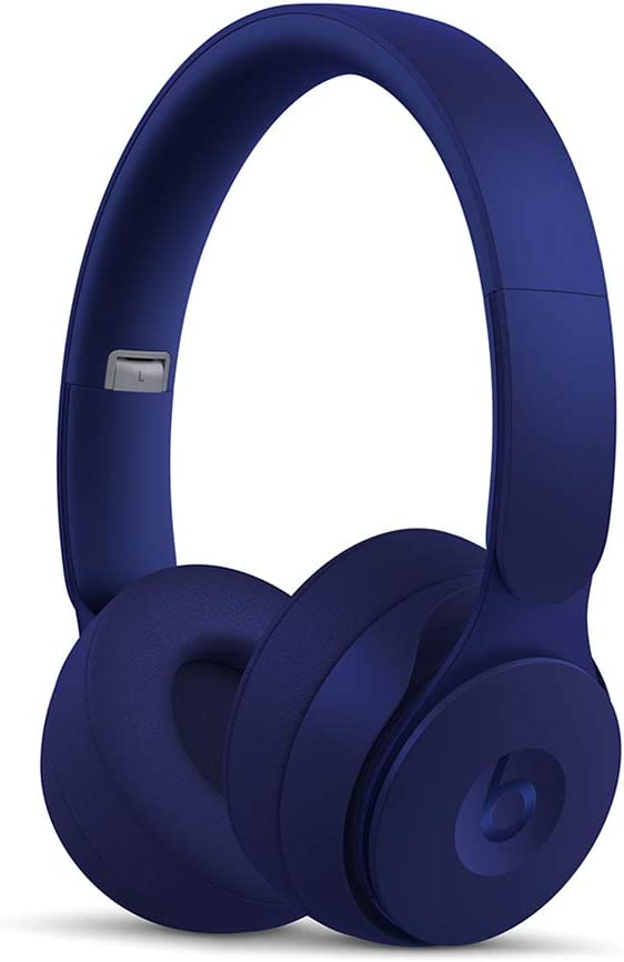 Beats Solo Pro WirelessNoise Cancelling On-Ear Headphones - Apple H1 Headphone Chip, Class 1Bluetooth, Active Noise Cancelling, Transparency, 22 Hours Of Listening Time- Dark Blue