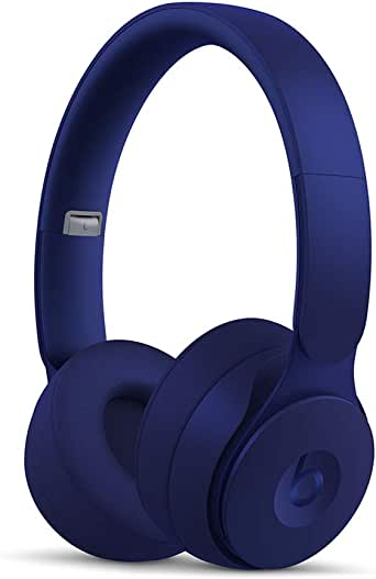 Beats Solo Pro Wireless Noise Cancelling On-Ear Headphones - Apple H1 Headphone Chip, Class 1 Bluetooth, Active Noise Cancelling, Transparency, 22 Hours Of Listening Time - Dark Blue