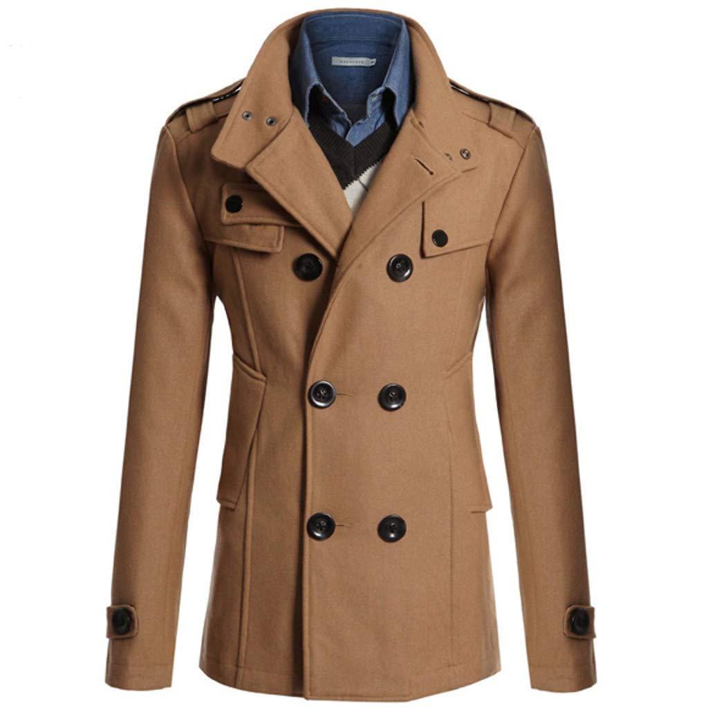 Dettagli su Trench cappotto in pelle militare vintage anni 80 doppiopetto taglia L uomo