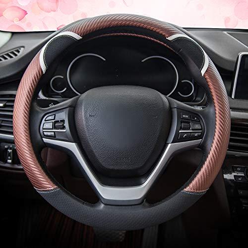 Fashion Vehicle Steering Wheel Protector Universal for Auto//SUV//Van Diameter 38cm 15 HYUGO Women Car Steering Wheel Cover Light Pink