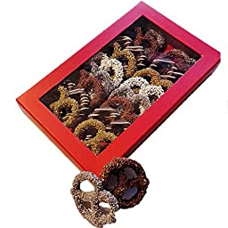 Dark Chocolate Covered Pretzel Twist Chocolate Variety Red box,16 count