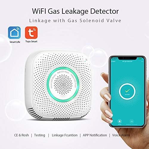 Functy TY-GSA-99 WiFi D/étecteur de gaz D/étecteur de Fuite de gaz Alarme Smart Life App La s/écurit/é de la Maison Intelligente Compatible avec Alexa Google Home IFTTT