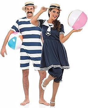 ef36c2fe606e5 Couples Ladies & Mens 1920's Decades Bathing Suit Vintage Swimwear  Beachwear Fancy Dress Costumes Outfits (