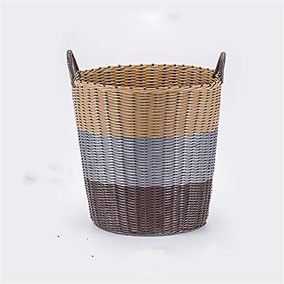 Lavadero Baske Cesto de Mimbre de plástico Cesto de Ropa Sucia Ropa de Juguete Cesto de Almacenamiento Ropa Caja de Tejer de Cubo para el hogar Pinzas para Habitaciones Cuarto de Lavado