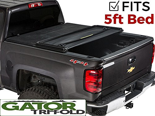 Gator Tri-Fold Tonneau Truck Bed Cover  Chevy Colorado GMC Canyon  2015-2017 5 ft Bed 59112