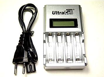Pantalla LCD-Cargador rápido inteligente para pilas AA o AAA ...