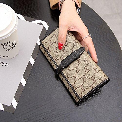 black avec large main Le à un Burenqi à sac long d'une main de volume un sac portefeuille avec dame nxUYAqTzpY