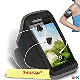 HUAWEI Ascend G500 GREY + EARPHONE Adjustable Armband Sport Gym Bike Cycle Running Jogging Sports Case Cover Holder Pouch (BB) with EAR BUDS Stereo Hands Free BY SHUKAN®