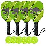Kanga Pickleball Paddles (4 Paddle/6 Ball Bundle)