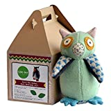 "Cate and Levi 10"" Handmade Hoo's The Maker Owl Plush Stuffed Animal Making Kit (Premium Reclaimed Wool), Colors Will Vary"