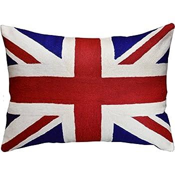 Amazon Com Eva Union Jack Tapestry Cushion Home Amp Kitchen