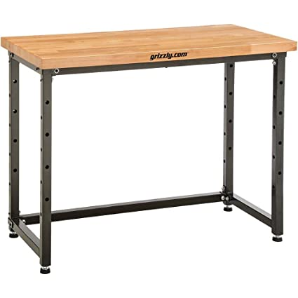 Incredible Grizzly T1248 48 X 25 Heavy Duty Workbench Beech Theyellowbook Wood Chair Design Ideas Theyellowbookinfo