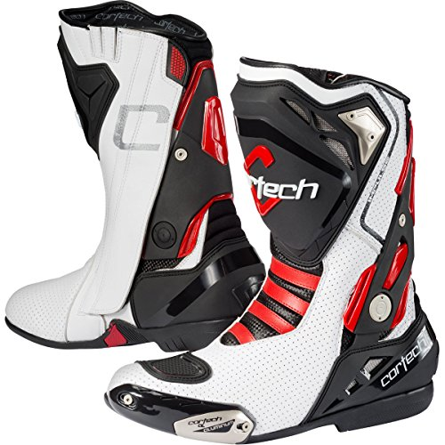 Cortech Impulse Air RR Men's Riding On-Road Motorcycle Boots - White/Red/Size 14