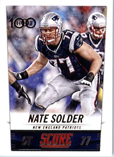 2014 Score Football Card #302 Nate Solder - New England Patriots