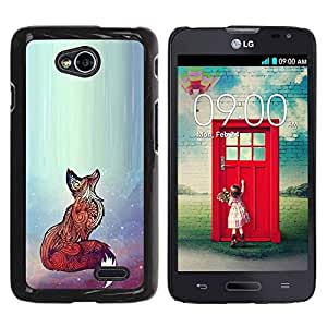 Paccase / SLIM PC / Aliminium Casa Carcasa Funda Case Cover - Red Cute Animal Bright Art Beautiful - LG Optimus L70 / LS620 / D325 / MS323