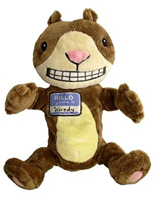 Scaredy Squirrel Plush Puppet From Melanie Watt Books - Stuffed Animals by Merry Makers